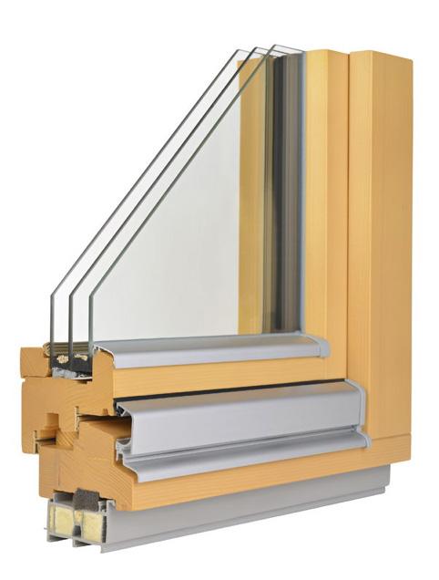 Profil für das Fenster mit drei Glasscheiben
