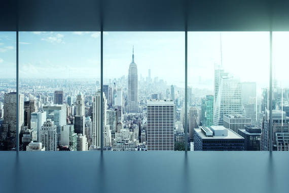 Intelligentes Glas modern Skyline