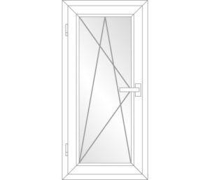 Balkontür Dreh-Kipp-Links (DKL) PVC Schwelle