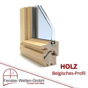 Holzfenster mit Wetterschenkel aus Holz