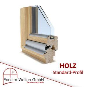 Holzfenster mit Wetterschenkel aus Aluminium